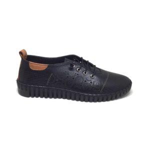Ersöz Z5955 Hakiki Deri Siyah Kadın Ortopedik Ayakkabı