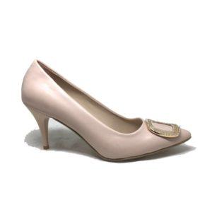Ersöz STL119 Bej Kadın Topuklu Ayakkabı