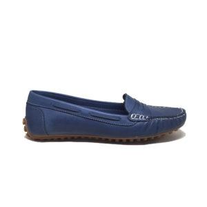 ERSÖZ 0120 Hakiki Deri Kot Mavi Kadın Ayakkabı