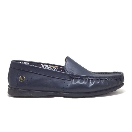 L0011B ERSÖZ Hakiki Deri Lacivert Erkek Ayakkabı