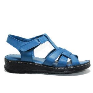 Ersöz CES427 Hakiki Deri Kot Mavi Sandalet