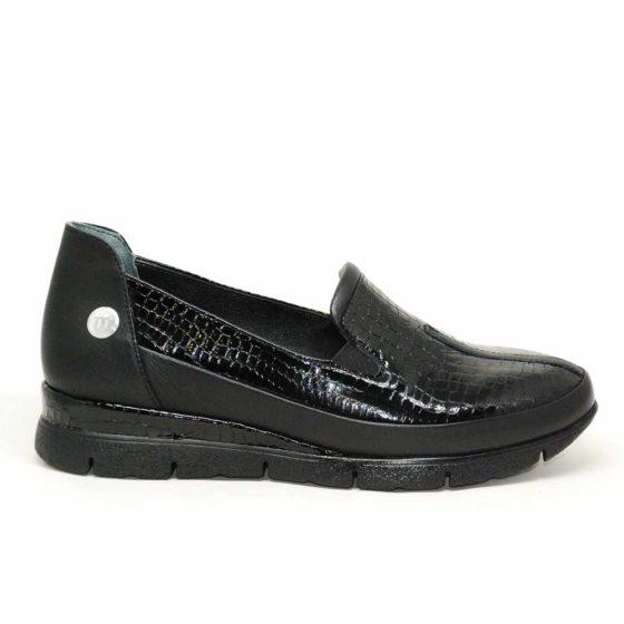 Mammamia D21YA-3290 Siyah Garni Kadın Ayakkabı
